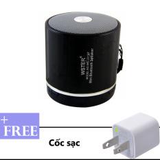 Loa Di Động Bluetooth Đa Năng Wster Ws 231Bt Đen Tặng Kem Cốc Sạc Chiết Khấu Đồng Nai
