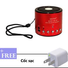 Ôn Tập Trên Loa Di Động Bluetooth Mini Wster Ws Q9 Đỏ Tặng Kem Cốc Sạc