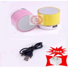 Hình ảnh Loa mini bluetooth HLD-600 led nháy theo nhạc tặng kèm củ sạc nhanh 1A(xem video)