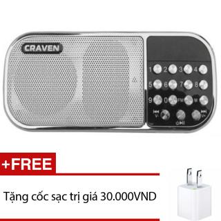 [HCM]Loa nghe nhạc đa năng Craven CR-22 (Trắng) + Tặng 1 cốc sạc thumbnail