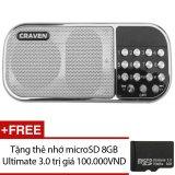 Ôn Tập Trên Loa Nghe Nhạc Đa Năng Craven Cr 22 Trắng Tặng 1 Thẻ Nhớ Microsd 8Gb Ultimate 3