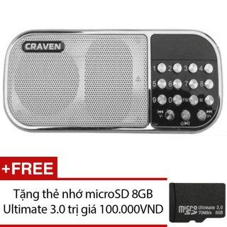 [HCM]Loa nghe nhạc đa năng Craven CR-22 (Trắng) + Tặng 1 thẻ nhớ microSD 8GB Ultimate 3.0 thumbnail