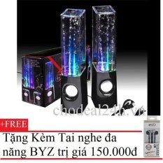 Giá Bán Loa Nhạc Nước Di Động 3D Water Speaker Đen Tặng Tai Nghe Byz S389 Nguyên