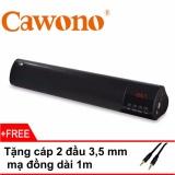 Loa Siêu Trầm 4 Loa Soundbar Cawono Y38 (Đen) + Tặng cáp 2 đầu 3,5mm bọc đồng