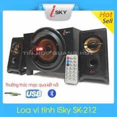 Loa vi tính iSky SK-212 kết nối bằng jack 2.1, Bluetooth và USB