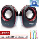 Giá Bán Loa Vi Tinh Soundmax A 130 2 Đen Viền Đỏ Tặng Đen Led Usb Ma L01 Soundmax Nguyên