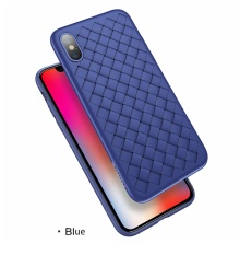 Mua Luxury Creative Grid Weaving Silicone Case Shell Anti Knock Back Cover For Iphone X Iphonex Intl Rẻ