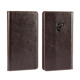 Bán Luxury Genuine Leather Wallet Case Cover For Xiaomi Mi Mix Dark Brown Intl Mới