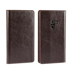 Giá Bán Luxury Genuine Leather Wallet Case Cover For Xiaomi Mi Mix Dark Brown Intl Trung Quốc