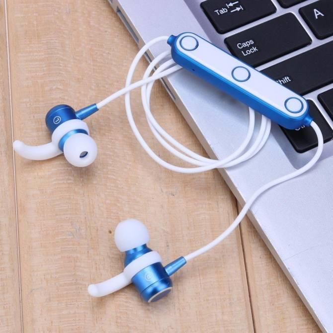 M2 Bluetooth 4.1 Thể Thao Chống Nước Tai Nghe Tai Nghe Nhét Tai Tai Nghe Stereo (Xanh Dương)-quốc tế