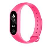 M2 Smart Wristband Sports Bracelet Pedometer Heart Rate Monitor(Pink) - intl