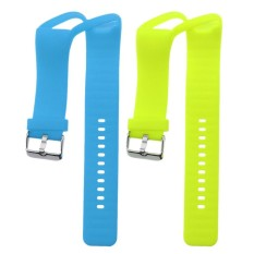 MagiDeal 2Pack Replacement Silicon Wrist Strap Watchband Band Belt with Chrome Clasp for Polar A360 Bracelet 2 Colors (Lime +Blue) - intl