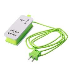 Hình ảnh MagiDeal Mini Nguồn USB Dây Sạc USB 4 Cổng Ga Du Lịch Sạc HOA KỲ Cắm Xanh Lá-quốc tế