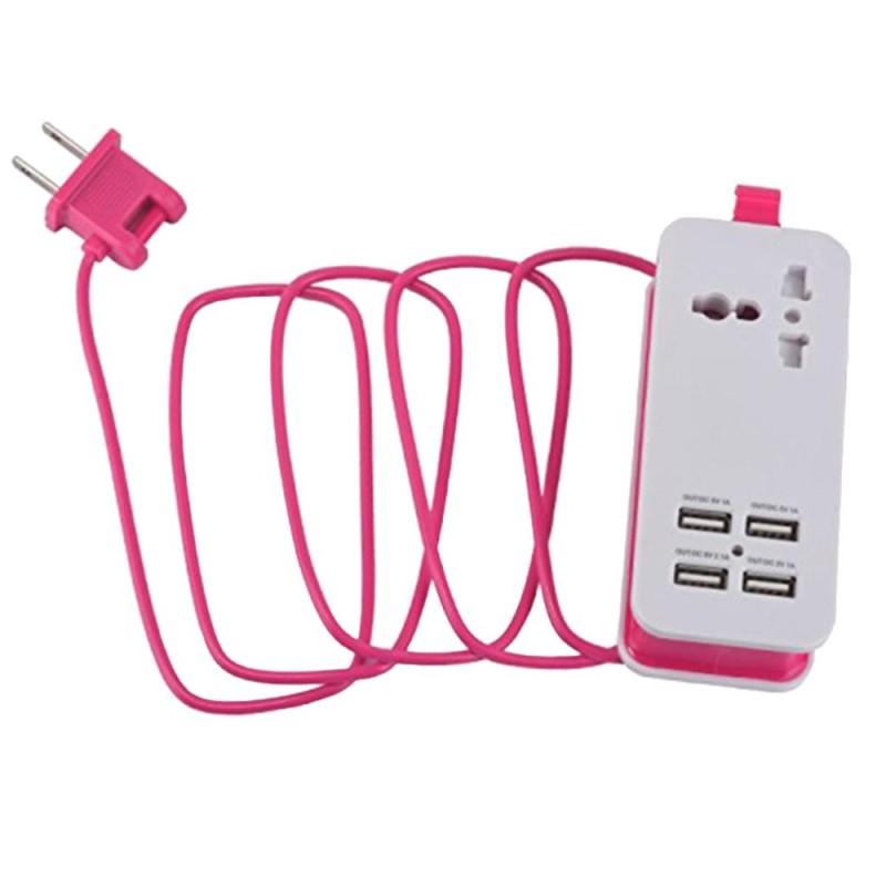 Bảng giá MagiDeal Mini USB Power Strip 4Port USB Charger Station Travel Charging US Plug Pink - intl Phong Vũ