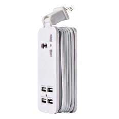 Hình ảnh MagiDeal Mini USB Power Strip 4Port USB Charger Station Travel Charging US Plug White - intl