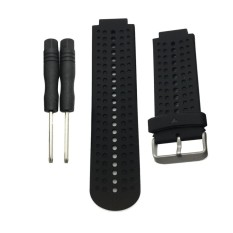 MagiDeal Silicone Removal Waterproof Watch Bands For Garmin Forerunner 220 230 235 620 630 Black - intl