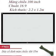 Bán Man Chiếu Treo Tường 100 Inch Tỷ Lệ 16 9 Tặng Day Cố Định Treo Tường 35M Hồ Chí Minh