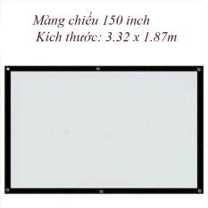 Màn Chiếu Treo Tường, Dán Tường 150 Inch - Kích Thước: 3.32 X 1.87m By Euro Quality.