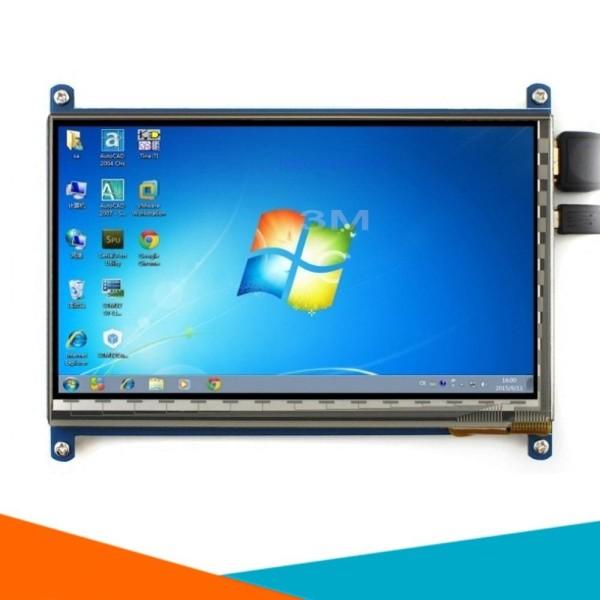 Bảng giá [Tp.Hà Nội] Màn Hình Raspberry 7Inch HD 1024x600 Cảm Ứng Điện Dung (Tặng Đĩa, Cáp HDMI, Cáp USB ) Phong Vũ