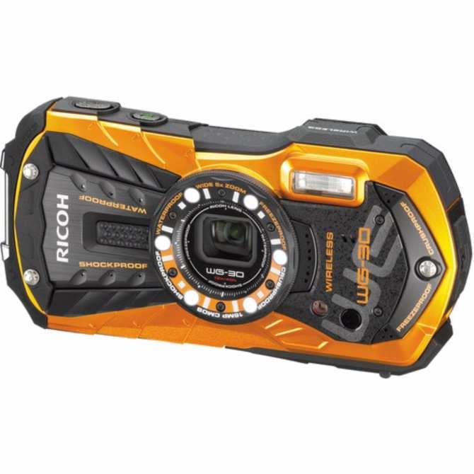 Hình ảnh Máy ảnh du lịch chống nước Ricoh WG-30W - Tặng thẻ nhớ SD 16GB, bao da đựng máy