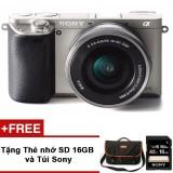 Giá Bán May Ảnh Sony Alpha A6000 Sap2 24 3Mp Với Lens Kit 16 50Mm Bạc Hang Phan Phối Chinh Thức Tặng Thẻ Nhớ Sd 16Gb Tui Sony Trực Tuyến