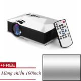 Projector KẾT NỐI KHÔNG DÂY UNIC UC46 Plus Trắng + Tặng màn chiếu 100inch