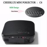 Máy chiếu mini HD CHEERLUX C6 Home Theater Projector + Tivi Tuner (Đen)