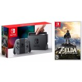 Bán May Chơi Game Nintendo Switch With Gray Joy Con Zelda Breath Of The Wild Nintendo Có Thương Hiệu