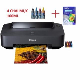 Máy in Canon 2770 gắn tiếp mực ngoài + 4 chai mực đổ thumbnail