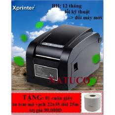May In Tem Ma Vạch Xprinter Xp 350B Đen Xprinter Chiết Khấu 50