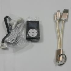 Hình ảnh Máy nghe nhạc kẹp áo có màn hình LCD + kèm cáp sạc đa năng treo chìa khóa cho Iphone,Samsung