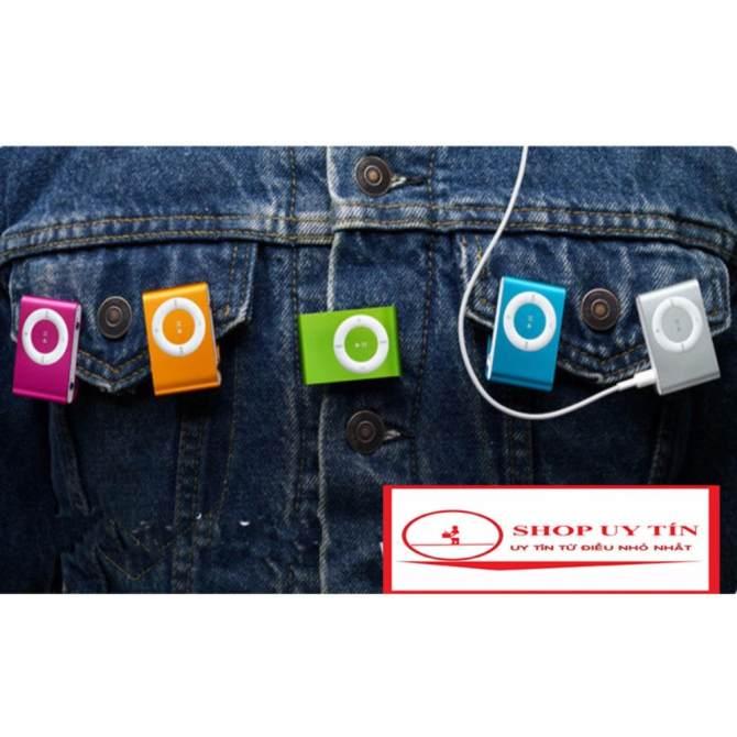 Hình ảnh Máy nghe nhạc MP3 2017(màu tùy ý) vỏ nhôm,kẹp áo tặng cáp sạc truyền dữ liệu( dùng như đầu đọc thẻ nhớ)