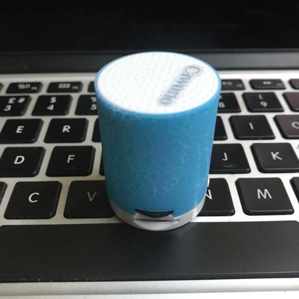 Máy nghe nhạc MP3 chất lượng cao Cawono H09 tròn có loa và đèn Led nhiều màu