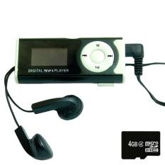 Máy nghe nhạc MP3 LCD dài (Đen) và thẻ nhớ MicroSD 4GB