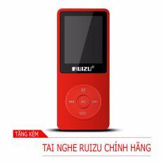 Máy nghe nhạc mp3 RUIZU X02 (8Gb - Đỏ) [Hãng phân phối chính thức]