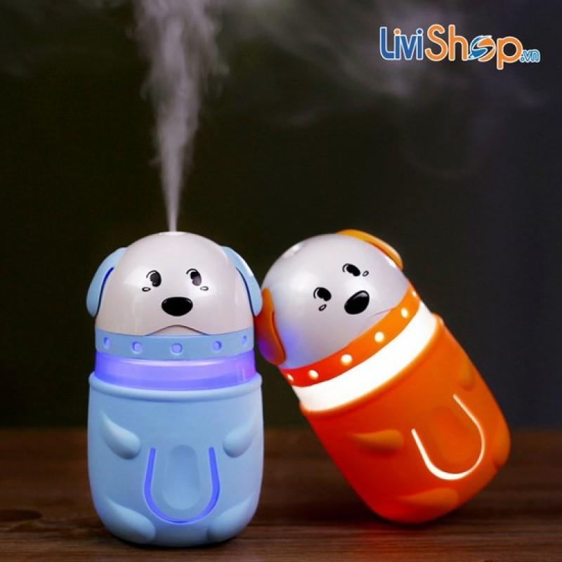 Bảng giá Máy phun sương tạo ẩm mini tích hợp đèn hình chú chó con siêu dễ thương Phong Vũ