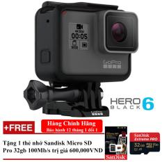 Giá Bán May Quay Hanh Trinh Gopro Hero 6 Black Đen Bảo Hanh 1 Đổi 1 Tặng 1 Thẻ Nhớ Sandisk Micro Sd Pro 32Gb 100Mb S Rẻ Nhất