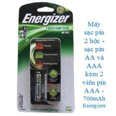 Máy sạc pin AA- AAA 2 hộc kèm 2 viên pin sạc AAA- 700mAh ENERGIZER (CH2PC4)