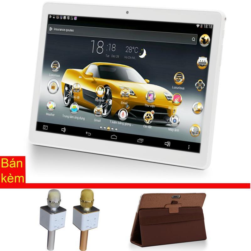 Máy tính bảng cutePAD M9601-phiên bản 2018 wifi/3G 9.6 Vàng gold+ Bao da nâu + Micro Karaoke tích hợp loa Bluetooth cutePad TX-Q705 ngẫu nhiên - Hãng phân phối chính thức
