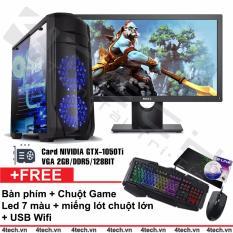 Hình ảnh Máy tính chiến game intel i7 2600 card GTX-1050Ti RAM 16GB 1TB Dell 24inch