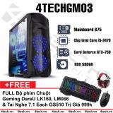 Giá Bán May Tinh Chơi Game 4Techgm03 Core I5 Ram 8Gb Hdd 500G Vga Gtx750 Chuyen Gta Overwatch Tặng Phim Chuột Gamers Dareu Tai Nghe Gaming 7 1 Gs510 Mới