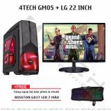 Giá Bán May Tinh Chơi Game 4Techgm05 Core I7 Ram 8Gb Hdd 500G Ssd 128Gb Vga Gtx1060 Màn Hình 22Inch Trực Tuyến