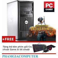 Máy tính chơi game Dell Optiplex 780MT  Intel Core Q9400 4x2.66  8GB/SSD128G/HDD 250GB-Tặng bộ phím giả cơ+ chuột Game  – Hàng nhập khẩu