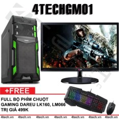 Hình ảnh Máy tính để bàn chơi Game 4TechGM01 Core i3, Ram 4GB, HDD 500GB, VGA rời GT630, Màn 19.5inch (chuyên LOL, FiFa) - Tặng phím chuột Gaming DareU.