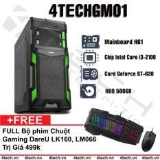 Ôn Tập May Tinh Để Ban Chơi Game 4Techgm01 Core I3 Ram 4Gb Hdd 500Gb Vga Rời Gt630 Chuyen Lol Fifa Tặng Phim Chuột Gaming Dareu