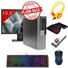 Hình ảnh Máy tính để bàn Dell Optiplex 960 SFF + Màn hình Dell 19.5inch (Core 2 Duo E8400, Ram 4GB, HDD 160GB) + Quà Tặng - Hàng Nhập Khẩu