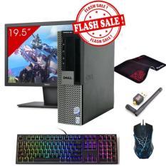 Máy tính để bàn Dell Optiplex 960 SFF + Màn hình Dell 19.5inch (Core 2 Duo E8400, Ram 4GB, HDD 160GB) + Quà Tặng - Hàng Nhập Khẩu