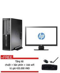 Máy tính để bàn HP Compaq 6200 Core I5 2400, 4GB RAM, 128GB SSD, 1 màn hình 20 inch + Tặng 1 bộ Bàn phím chuột bàn di USB wifi – hàng nhập khẩu.