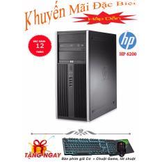 Máy tính để bàn HP Compaq 6200 Pro SFF Core i7 6200, Ram 4GB, HDD 250GB + Tặng phím giả cơ, chuột, lót chuột - Hàng Nhập Khẩu