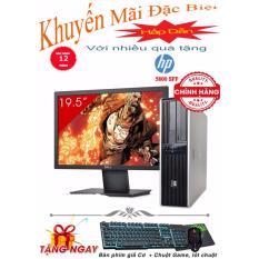 Máy tính để bàn HP DC 5800 SFF + Màn hình Dell 19.5inch (Core 2 Duo E7500, Ram 2GB, HDD 160GB) + Quà Tặng - Hàng Nhập Khẩu